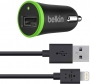 Belkin Single Mini Car Charger F8J026bt04-BLK