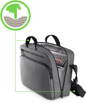 b20f38ee7d The adjustable mesh padded strap offers added comfort and support during  commutes. Even the carrying handle is padded for constant comfort.
